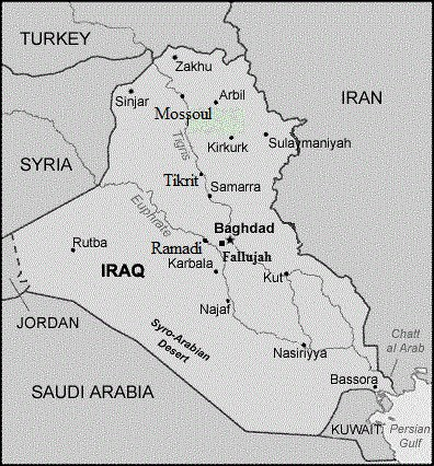 Irak carte - Falludjah - Juillet 2014