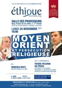 Conférence Chrétiens d'Orient 24 novembre 2 014