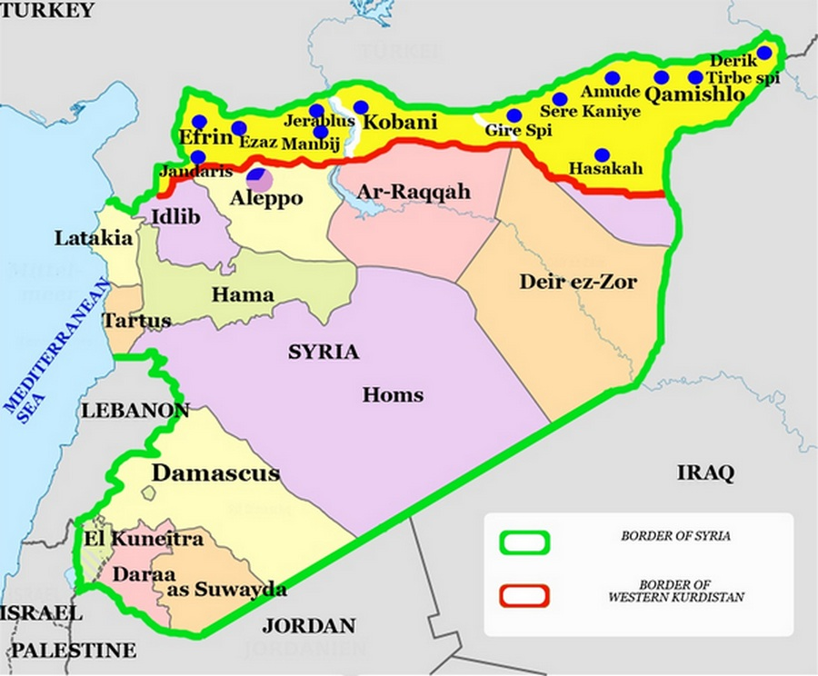SYRIA - January 2015 - carte - Basher TALATE'