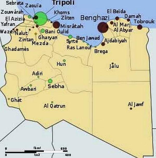 LIBYE - Juillet-Août 2015 - Pierre PICCININ da PRATA -  Carte