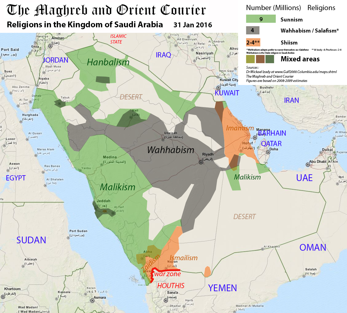 Saudi Arabia religions CMO jan 2016 E Pène