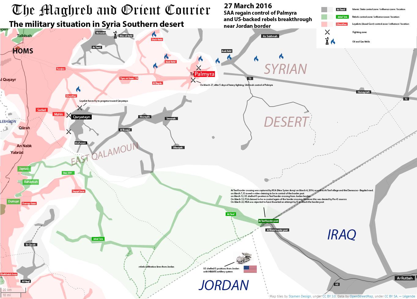 Syrian desert 27 March 2016