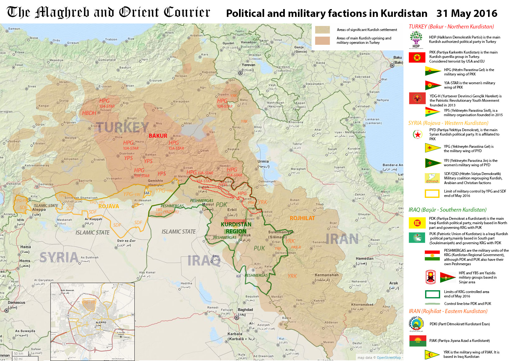 Arab world map kurdistan political and military factions in arab world map kurdistan may 2016 emmanuel pene 464729 gumiabroncs Image collections