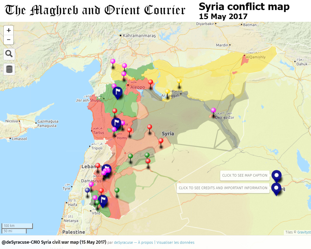 SYRIA - Interactive conflict map (on 15 May 2017) | The Maghreb and ...
