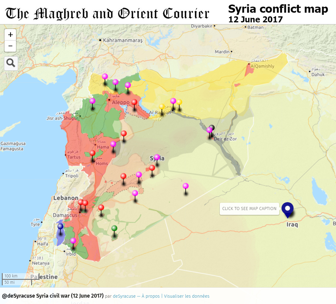 URGENT / SYRIA – Interactive conflict map (12 June 2017) | The ...