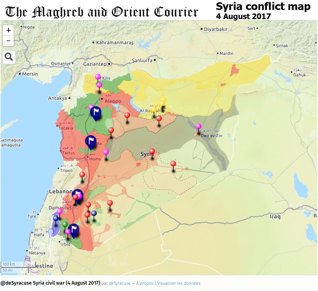 URGENT SYRIA Interactive Conflict Map Th Of August - Syria world map