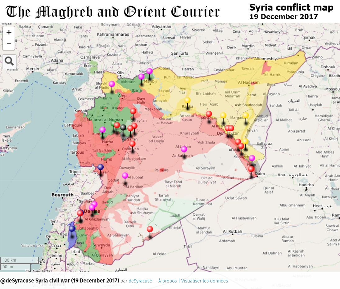 URGENT / SYRIA – Interactive conflict map (19th of December 2017 ...