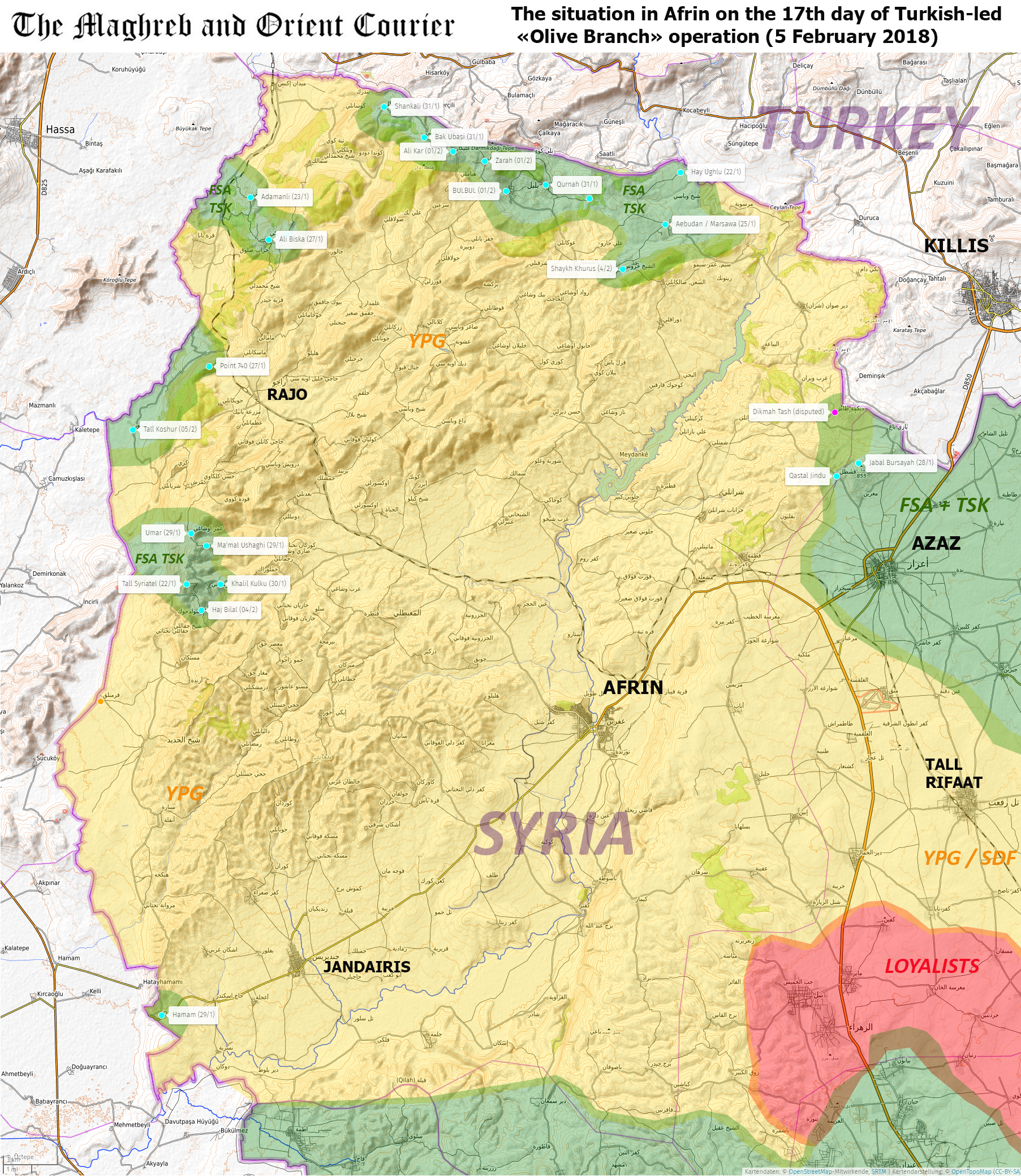 Urgent arab world maps syria afrin first results after 16 click on the map to enlarge gumiabroncs Gallery