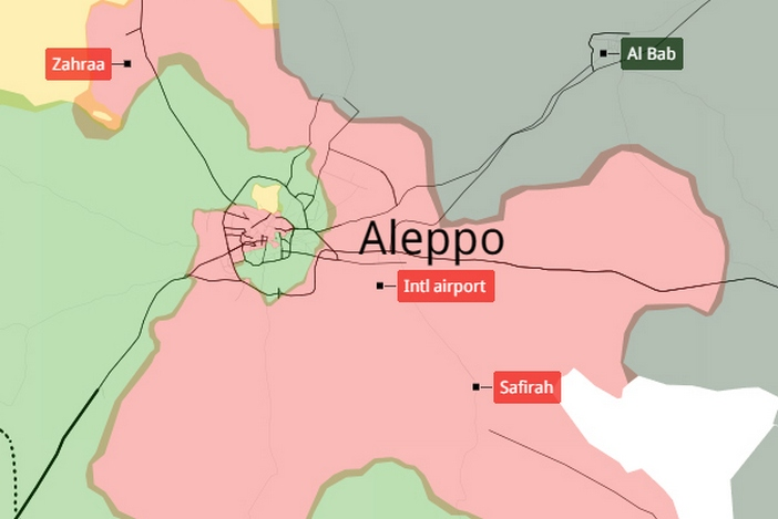 SYRIA Aleppo The Key Issue Of Syria Civil War The Maghreb - Aleppo map