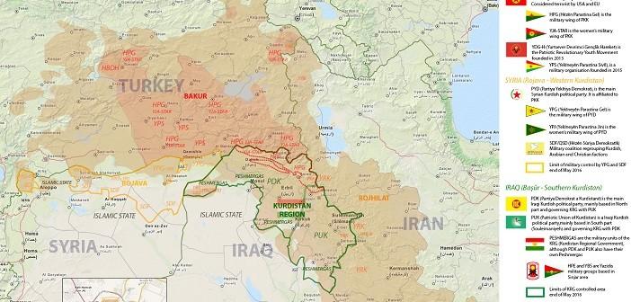 Arab world map kurdistan political and military factions in arab world map kurdistan political and military factions in kurdistan may 2016 sciox Images