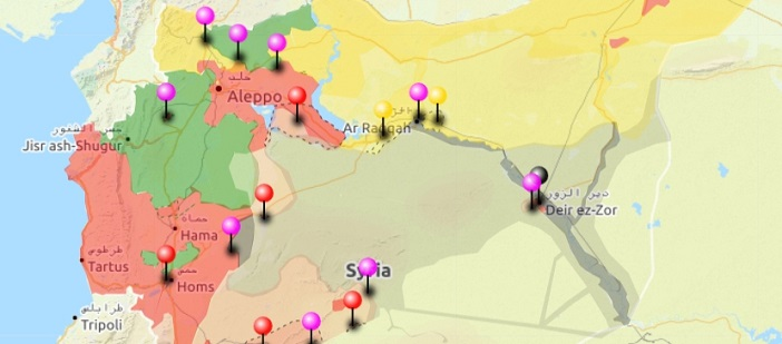 URGENT SYRIA Interactive conflict map 12 June 2017 The
