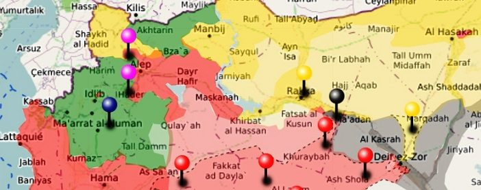 URGENT SYRIA Interactive Conflict Map Th Of September - Syria interactive map