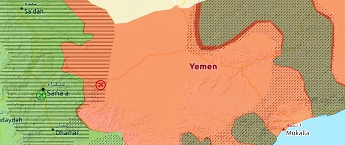 ARAB WORLD MAPS (Yemen) – Saudi-led coalition attempts to isolate ...